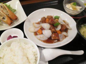 胡桃 酢豚定食