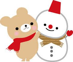 2014年末のクマと雪だるま
