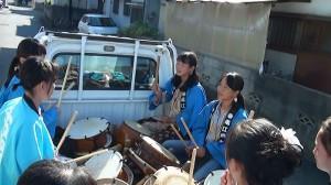 2015年巡町の太鼓隊