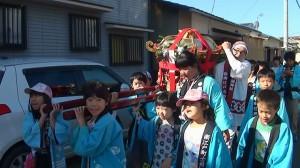 2015年巡町の小学生神輿