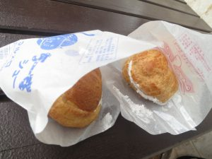 沖縄のスイーツの田芋シュー