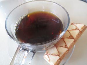 オステリアのランチのアフターコーヒー