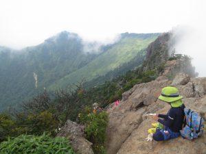 石鎚の天狗岳からの景色