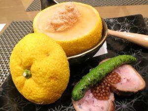 にの特別会席の柚豆腐