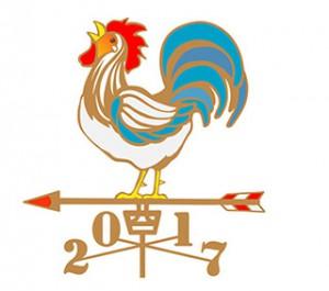 2017年始酉風見鶏