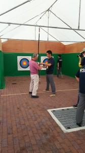 国体の弓道の体験