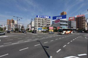 永木町周辺の永木交差点