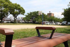 永木町周辺の石手川緑地のバスケットコート