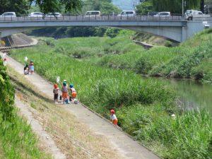 永木町周辺の石手川