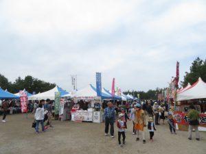 鹿児島の砂の祭典のグルメブース