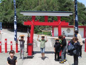 鹿児島の釜蓋神社の開運試し