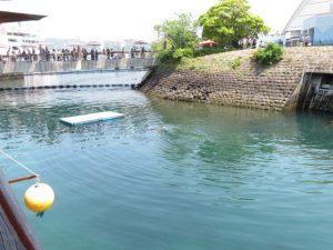 鹿児島の水族館のイルカの水路