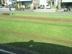 鹿児島の電車の線路