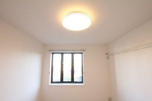 コスモビュー202の洋室の照明