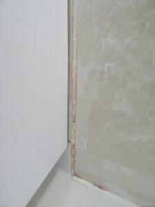 浴室カビとりの最初の塗布