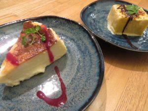 楽のチーズケーキとクレマカタラーニャ