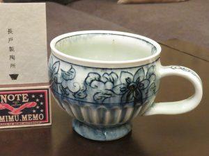 展示購入の陶彩窯マグカップ