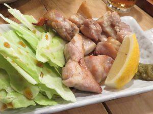 蕎味津々の若鶏のモモ焼き